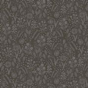 Grove by Makower UK - 6744 - Meadow Floral, Charcoal on Black - 2162_S9 - Cotton Fabric